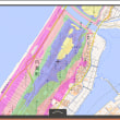 石川県の各市町村の津波避難用の色別の標高地図。ゼロ~5~10~20~30~40メートル、40メートル以上の6段階の標高の範囲の地図