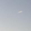 今日の夕日と飛行機くめ
