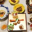 昨夜の「夕食会」のお食事 @ 第30期竜王戦第4局 新潟県三条市「嵐渓荘」