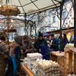 雪をかぶったイースターマーケット@ウィーン