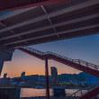 夕暮れの摩耶大橋