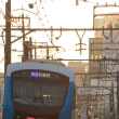 静岡鉄道は柚木-春日町の夕景その3 (2018年秋 A3001とA3002)