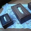 ブラックウォルナット材(クルミ材)のティシュボックス&ミニティシュボックス