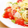 ホタテとトマトの冷たいパスタ