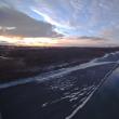 むかわ町鵡川の夕焼け:12月15日2017