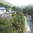 湯野上温泉の渓谷