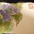 絵手紙バラと紫陽花&破竹 (18-621)