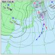 11月19日 アメダスと天気図。