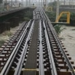 南海電車の橋脚が沈む