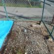 1号柱を建柱する為穴掘り作業|電気の新規引き込み工事