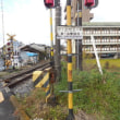 岡山県津山市二宮・JR姫新線の第一出雲踏切を通過する