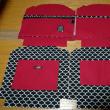 赤の帆布でがま口バッグ、パーツが揃いました➰と、父ちゃんの新しい趣味😁