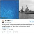 原爆の部品運んだ「インディアナポリス号」の撃沈から72年ぶりに発見!