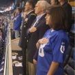 米国歌斉唱中に数名の選手が起立を拒否したため、ペンス米副大統領は「私たちの兵士、国旗に対する礼節を欠いた」試合に出席することはできないとして、地元インディアナ州での試合観戦を放棄した。