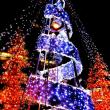 昨夜、「コーナン」で突っ張り棚をね→「弁天町オーク」のクリスマスツリー