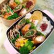 ビビンバ弁当/豚肉の野菜巻き弁当