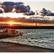 鳥飼漁港の夕暮れ