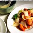 お昼は酢豚定食、昔ながらの。。