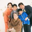 -長男小学校卒業*家族の記念写真*泉区向陽台-