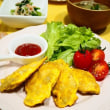 ☆鶏むね肉のカレーピカタ&ごぼうのサラダ☆