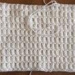 玉編みの座布団