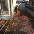 庭のリノベーション コンクリート打設準備 レンガフレーム