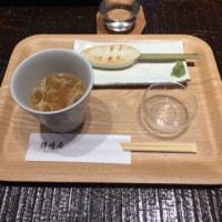 あぶり笹かま「かねささ」セット+日高見純米酒@仙台駅「鐘崎屋」