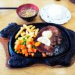 定食(ステ-キ)を食べました。