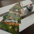 Seriaの生地で作ったがま口と今年のクリスマス飾り。