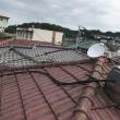 この間の台風でポールが!!アンテナ工事