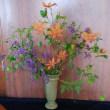 家のお花を生けました~~!