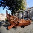 ボスフォラスの沈没船のレプリカが考古学博物館に展示