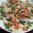 鯖の味噌煮缶とキムチでちゃんちゃん焼き風
