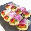 【Cooking】レインボー?生春巻とベジメキシカンスープ
