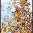 色鉛筆画412 (凍った川)