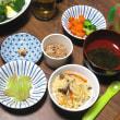 夕飯◆カレイの煮付け、きのこ炊き込みご飯、ぶどう