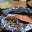 「鮭のホイル焼き」430kcal