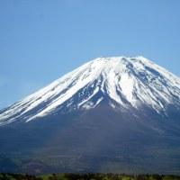 富士宮あたりから見た富士山