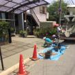 下水切り替え工事に伴うコンクリート打設