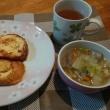 フレンチトーストと豚汁