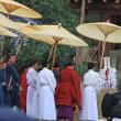 今昔奈良名所「御旅所と氷室神社と春日大社」
