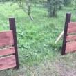 ブルーベリー農園柵作り始まりました!