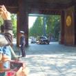 勅使参向の靖国神社例大祭