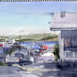 travel sketch, Ushuaia, Argentina