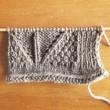 レッグウォーマー試し編み中