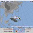 熱帯低気圧aが台風24号になりました。進行方向はどうなるのだろう。