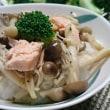 キノコと鮭のリゾット風(レシピ)