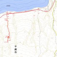 楓沢洞窟のGPSトラック