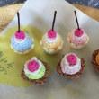 カップケーキとタルト ♪ 編みました