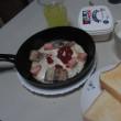 サバ缶  & 魚肉ソーセージ & フライエッグ      <゜)))彡   № 50